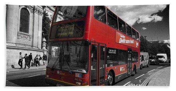 London Bus Beach Sheet
