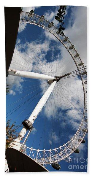London Ferris Wheel Beach Towel