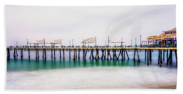 Beach Towel featuring the photograph London In Redondo by Michael Hope