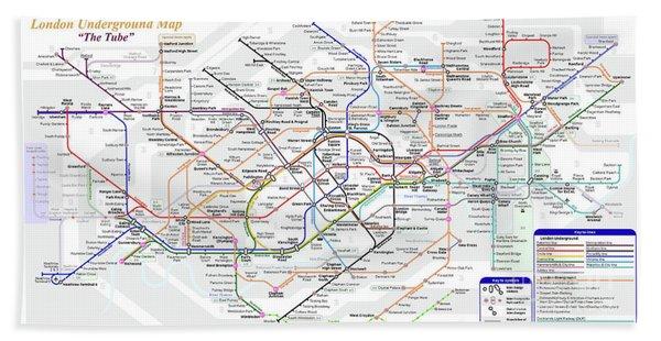 London Underground Map Beach Towel