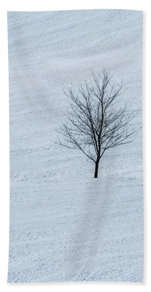 Beach Towel featuring the photograph Lonely Tree by Tom Singleton