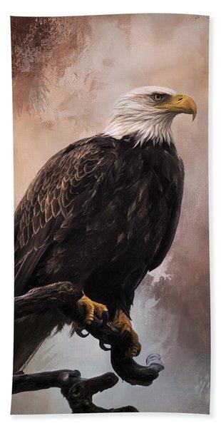 Looking Forward - Eagle Art Beach Sheet
