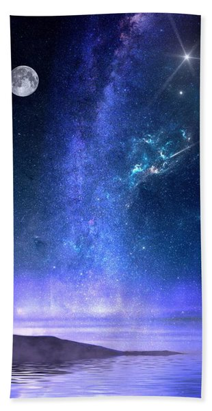 Beach Towel featuring the painting Looking Up by Mark Taylor