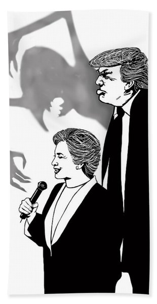Looming Trump Beach Towel