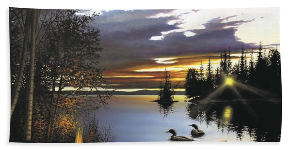 Loon Lake Beach Towel