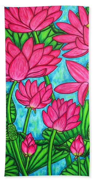 Lotus Bliss Beach Towel