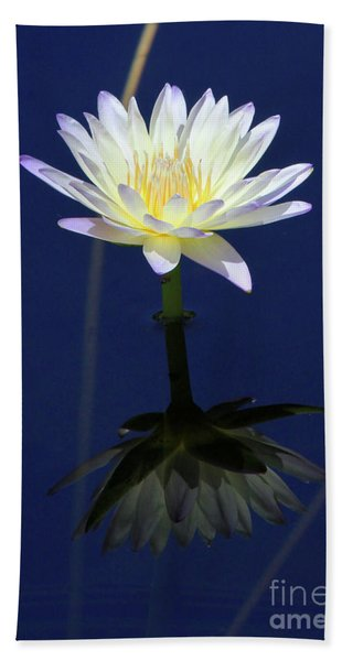 Lotus Reflection Beach Towel