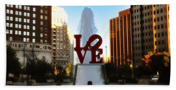 Love Park - Love Conquers All Beach Towel