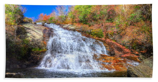 Lower Falls At Graveyard Fields Beach Towel