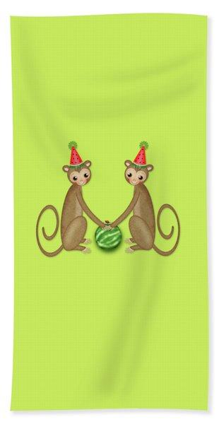 M Is For Monkeys Beach Towel