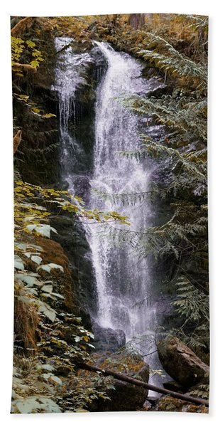 Beach Towel featuring the photograph Magical Falls Quinault Rain Forest by Michael Hope