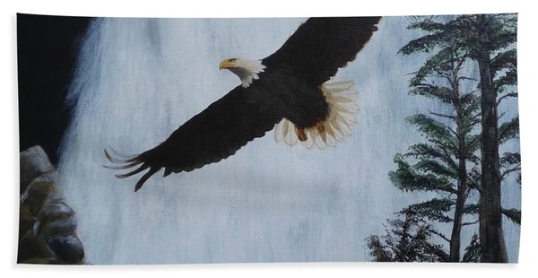 Majestic Bald Eagle Beach Towel