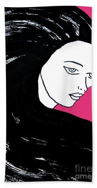 Majestic Lady J0715c Honeysuckle Pink Pastel Painting 18-2120 Da4f70 E53679 Beach Towel