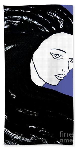 Majestic Lady J0715f J0715f Marina Blue Pastel Painting 17-4041 4f84c4 585fa8 Beach Towel