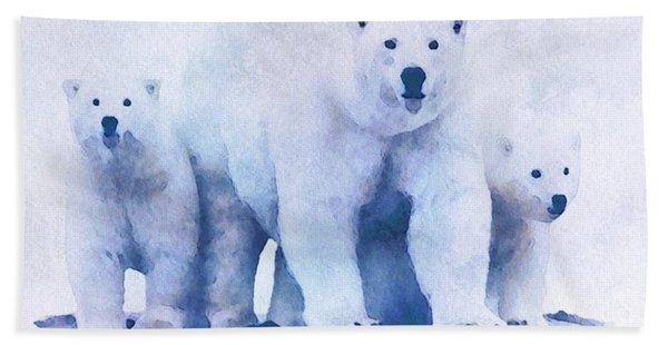 Beach Towel featuring the painting Mamma Bear  by Mark Taylor