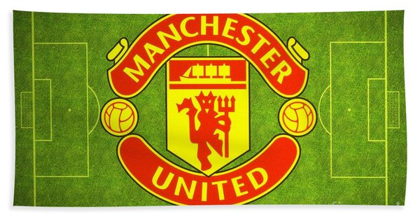 Beach Towel featuring the digital art Manchester United Theater Of Dreams Large Canvas Art, Canvas Print, Large Art, Large Wall Decor by David Millenheft