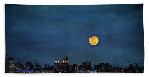 Manhattan Moonrise Beach Towel