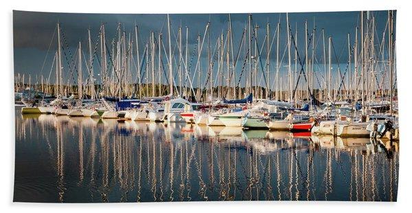 Marina Sunset 4 Beach Towel