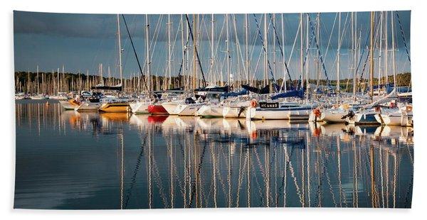 Marina Sunset 7 Beach Towel