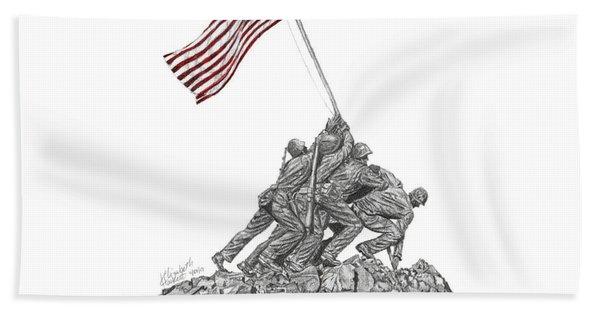 Marine Corps War Memorial - Iwo Jima Beach Towel