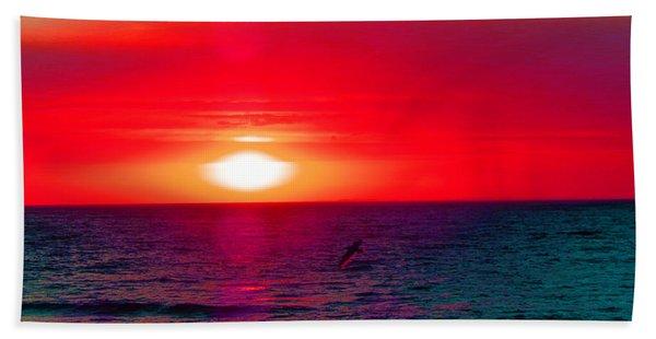 Mars Sunset Beach Towel