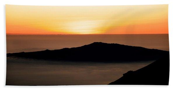 Mauna Kea Sunset Beach Towel