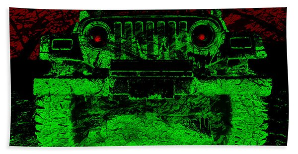 Mean Green Machine Beach Towel