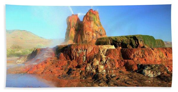 Beach Towel featuring the photograph Meet The Fly Geyser by Sean Sarsfield