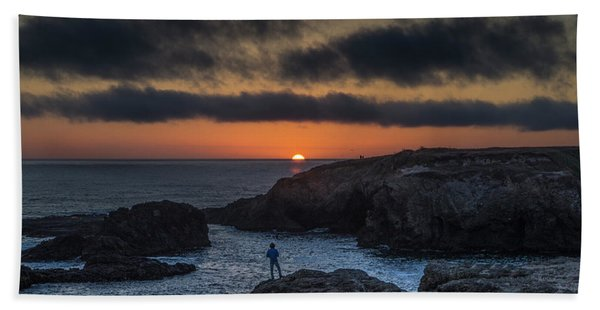 Mendocino Sunset Beach Towel