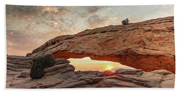 Mesa Arch At Sunrise Beach Towel