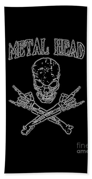 Metal Head Beach Towel