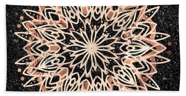 Metallic Mandala Beach Towel