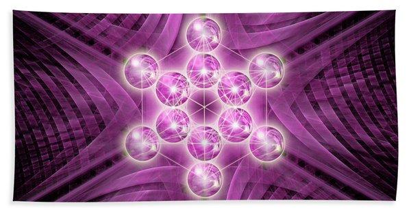 Metatron's Cube Atomic Beach Towel