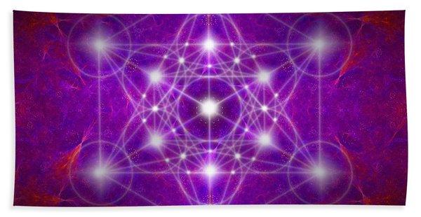 Metatron's Cube Colors Beach Towel