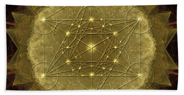 Metatron's Cube Geometric Beach Sheet