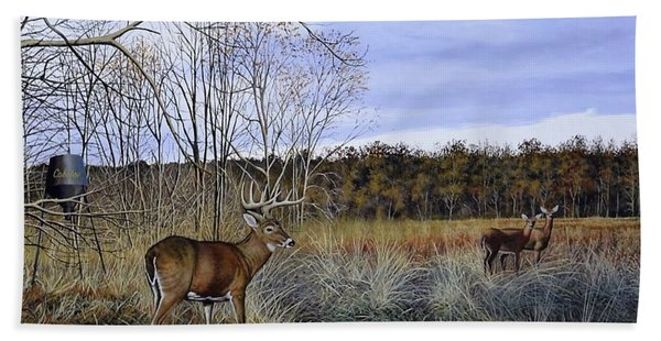 Take Out - Deer Beach Towel