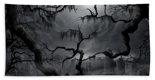 Midnight In The Graveyard II Beach Towel