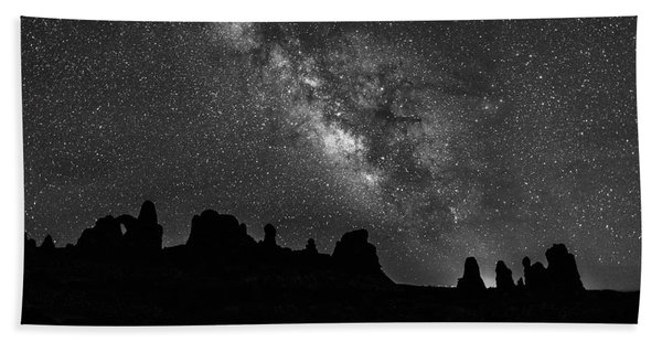 Milky Way At The Windows Beach Towel