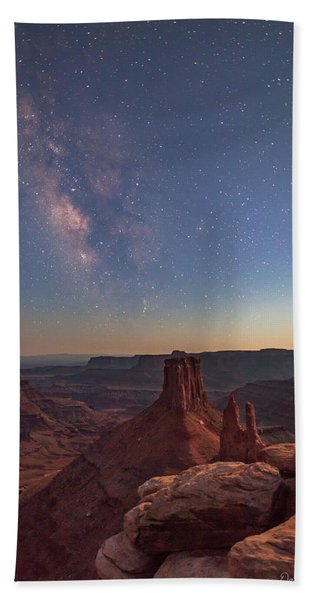 Milky Way At Twilight - Marlboro Point Beach Towel