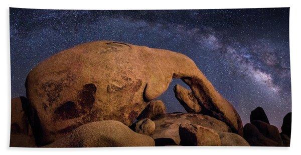Milky Way Over Arch Rock Beach Towel