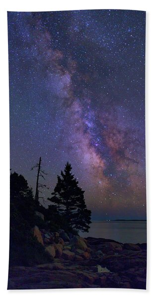 Milky Way Over Otter Point Beach Towel