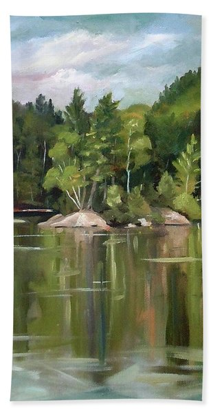 Mirror Lake En Plein Air Beach Towel