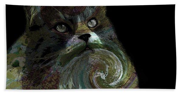 Miss Kitty Portrait Pop Art Soft Beach Towel