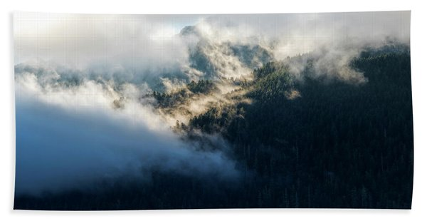 Beach Towel featuring the photograph Misty Hills by Michael Hope
