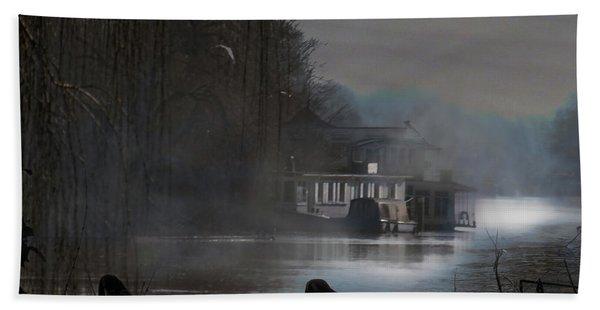 Misty Moonlight Beach Towel