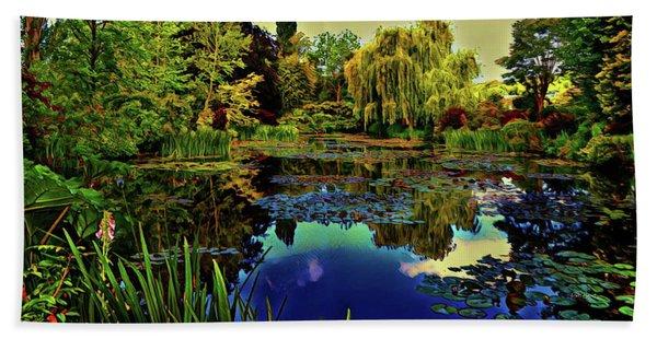Monet's Flower Garden - Water Lilies Beach Towel
