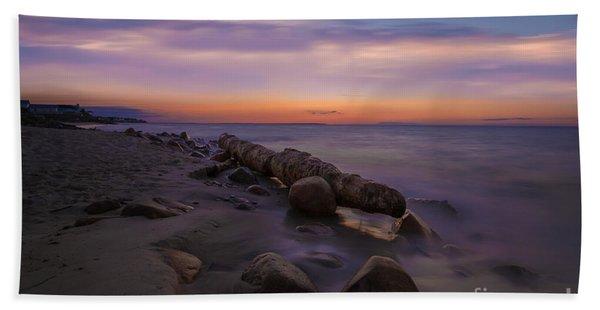 Montauk Sunset Boulders Beach Sheet