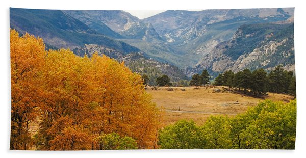 Moraine Park In Rocky Mountain National Park Beach Towel