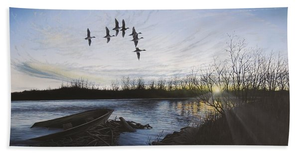 Morning Retreat - Pintails Beach Towel