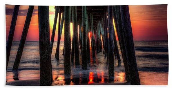 Morning Under The Pier Beach Towel